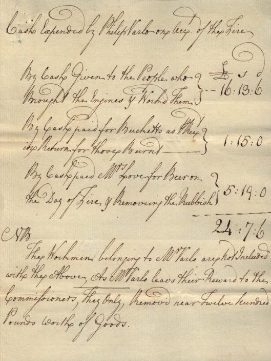 Phillip Varlo Fire Insurance Policy Receipt 1772