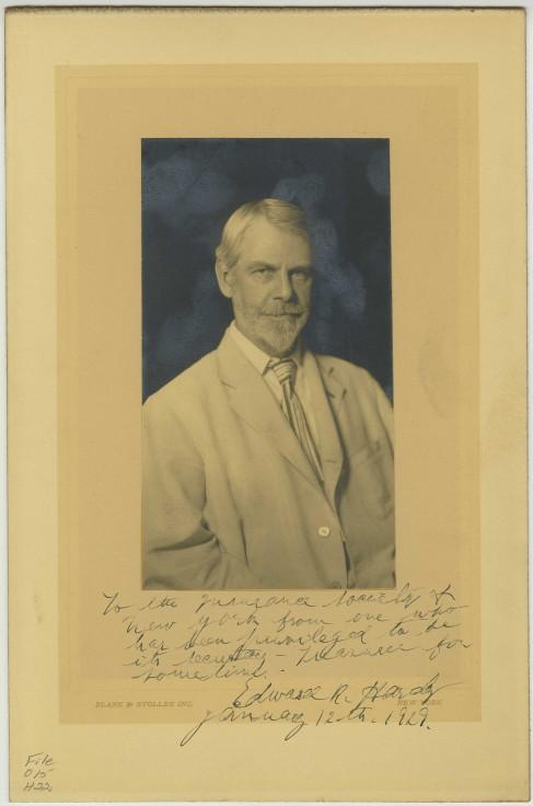 Portrait of Edward Rochie Hardy