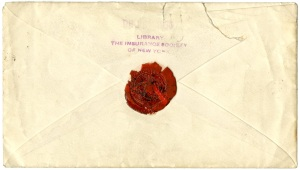 Envelope 1861 back