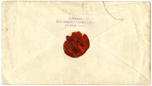 Envelope 1861 back